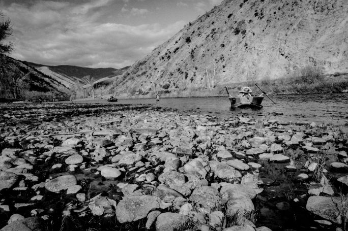 B&W photo Salmon Idaho