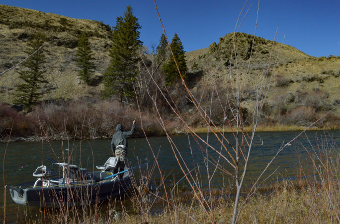 Boat fishing steelhead
