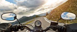 image: motorcycle on Salmon, Idaho byway