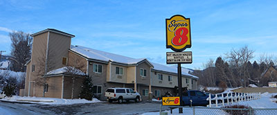 Super 8 Hotel in winter