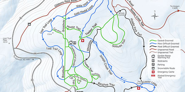 chief joseph cross country ski map