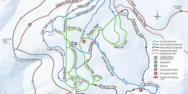 chief joseph cross country ski map