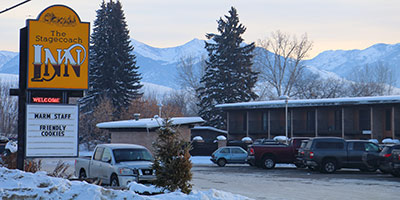 Stagecoach Hotel in winter