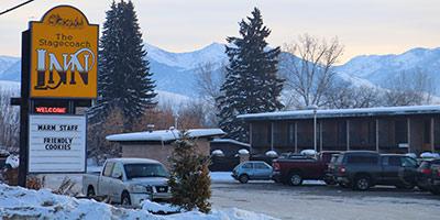 Stagecoach Hotel in winter