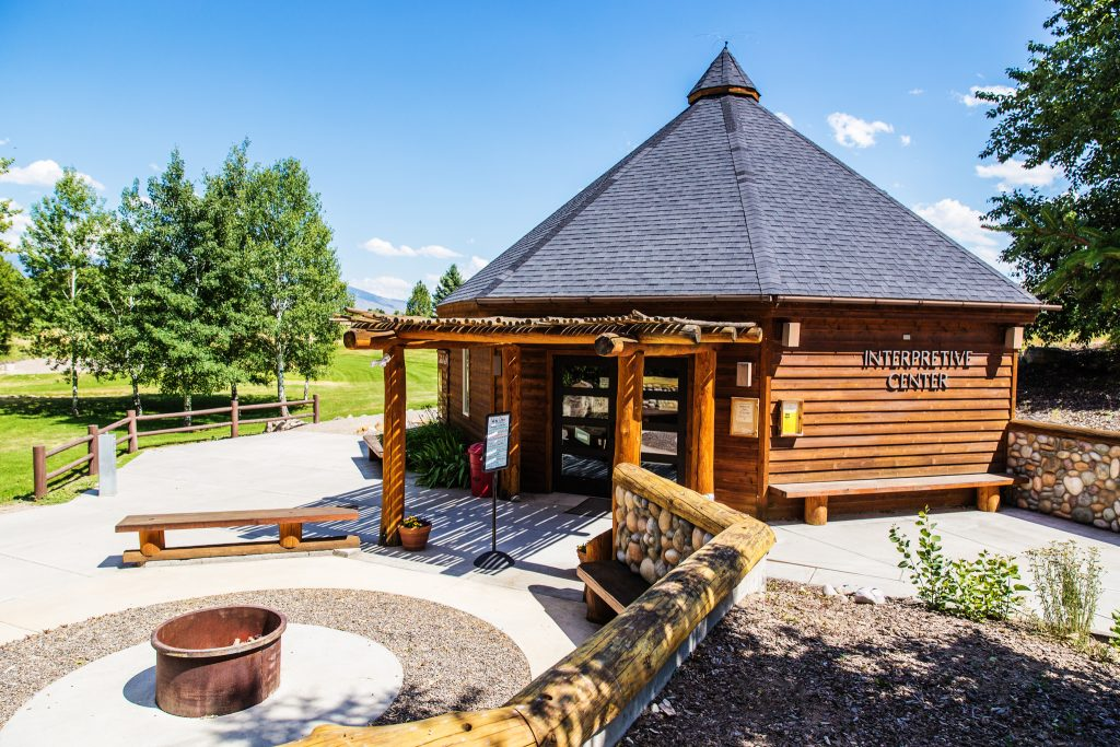 The Sacajawea Interpretive Center information building