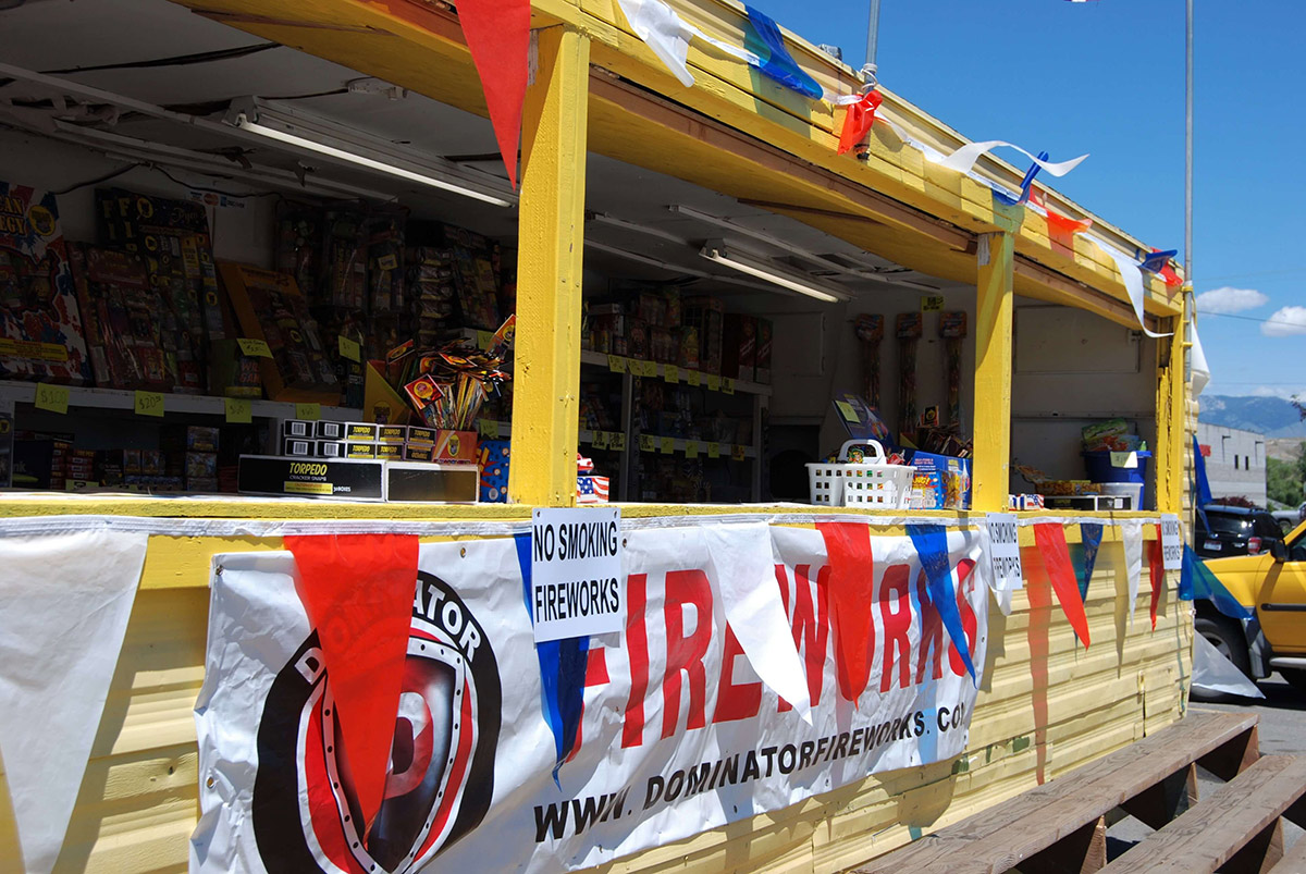 image: fireworks booth