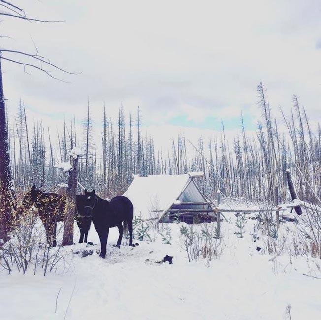 Winter camp - Salmon, Idaho