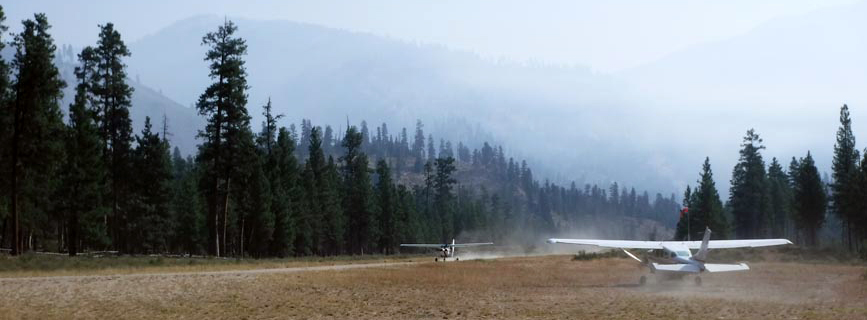 Flight Into Indian Creek, Salmon Idaho