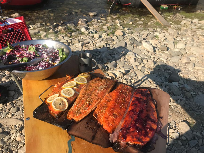 Salmon, Idaho: Not a backpacker dinner